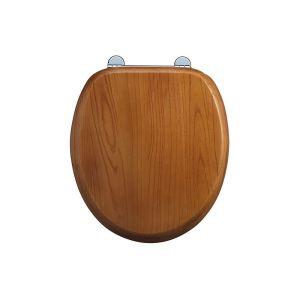 Burlington Soft Close Golden Oak Toilet Seat