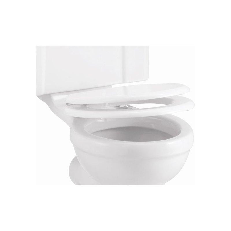 Burlington Soft Close Toilet Seat Gloss White Seat