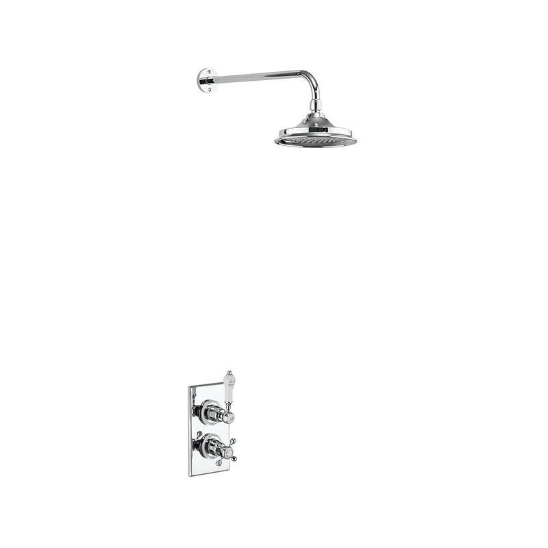 Burlington Trent Thermostatic Single Outlet Shower Valve with Rose