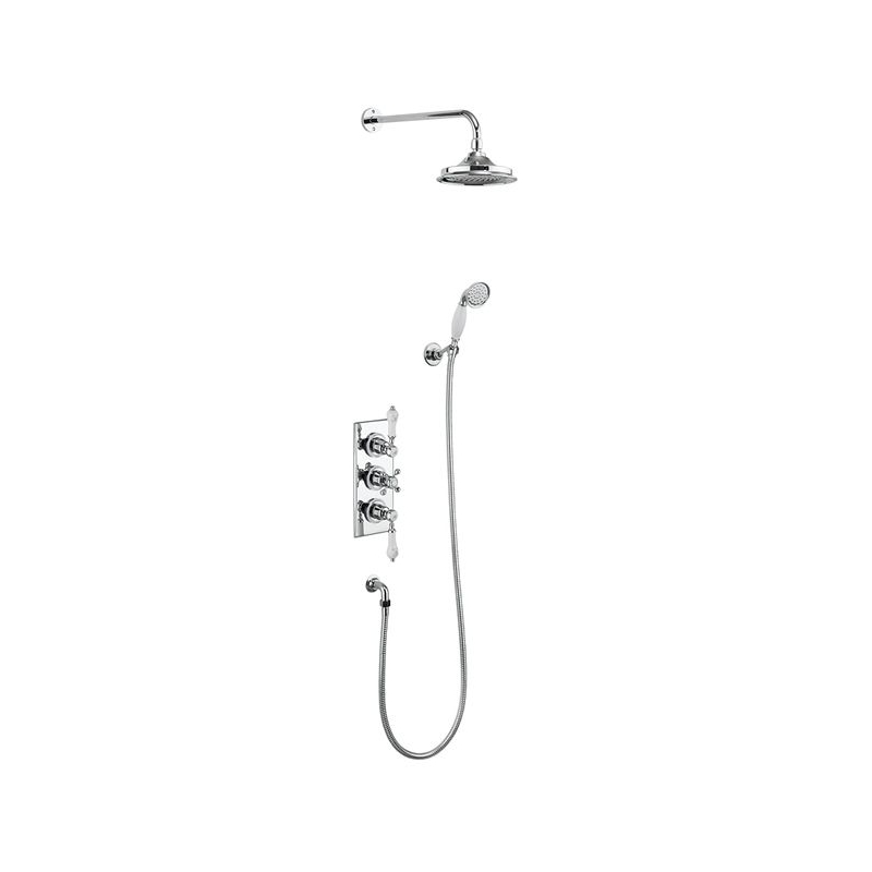 Burlington Trent Thermostatic Dual Outlet Concealed Shower Set