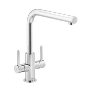 Carron Phoenix Rosolina L-Spout Kitchen Sink Mixer Tap Chrome
