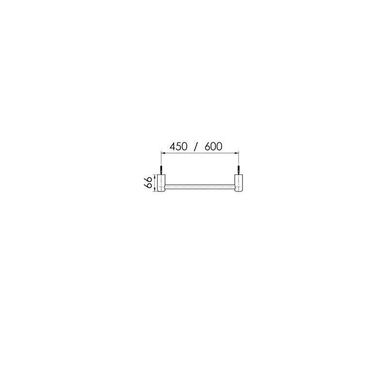Cifial AR110 600mm Towel Bar Matt Black