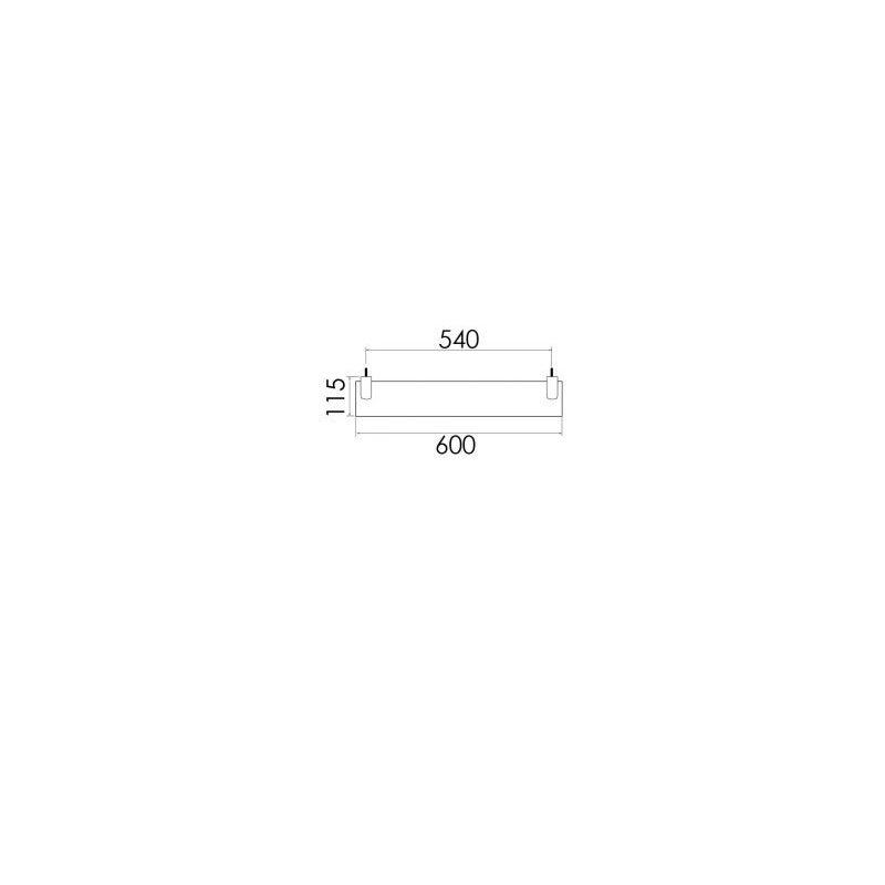 Cifial AR110 Metal Shelf 600mm Chrome