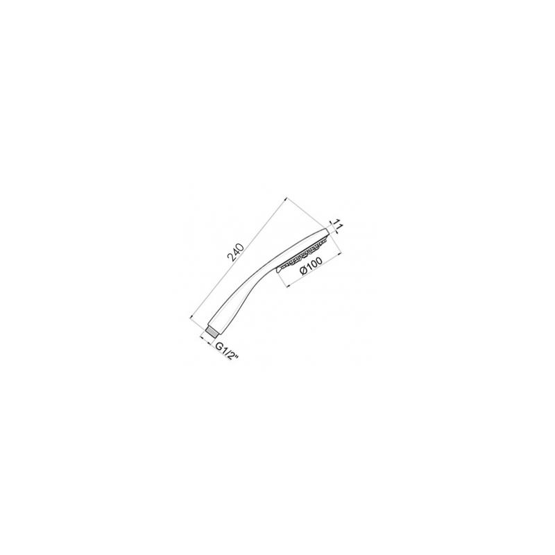 Cifial 100mm Multi Function Shower Handset Matt Black