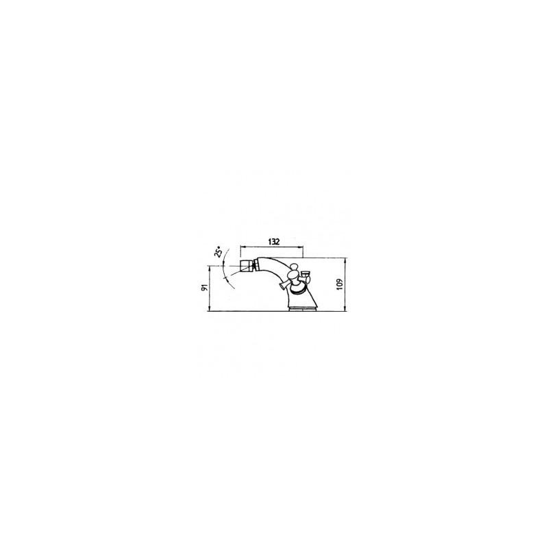 Cifial Brookhaven Cross Mono Bidet Mixer Chrome