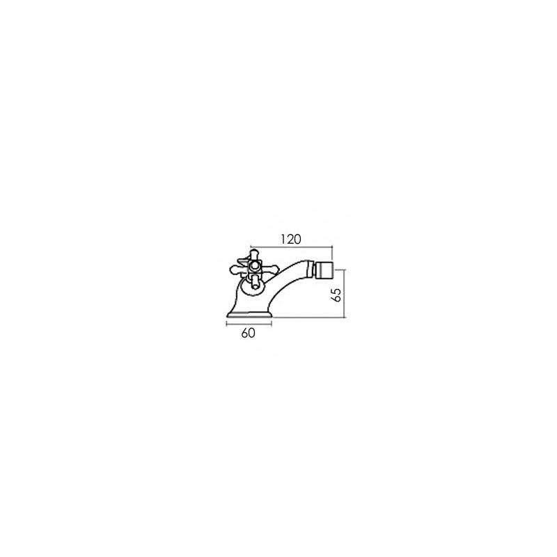 Cifial Edwardian Mono Bidet Mixer Chrome