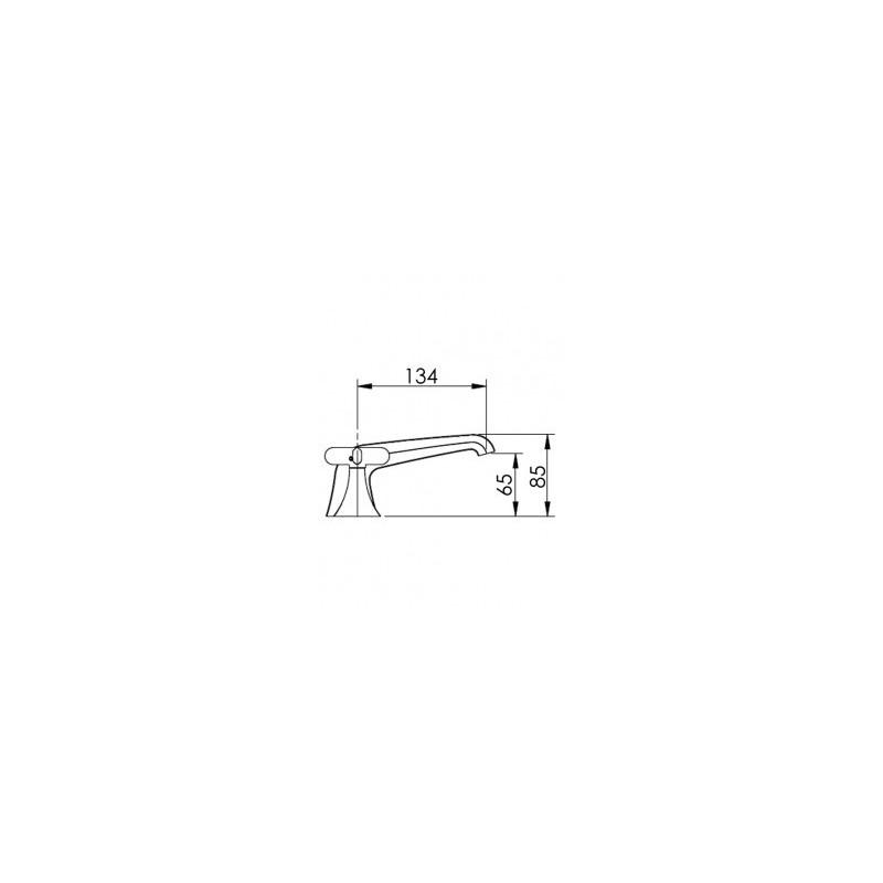 Cifial Hexa 3 Hole Deck Basin Mixer Low Spout Chrome