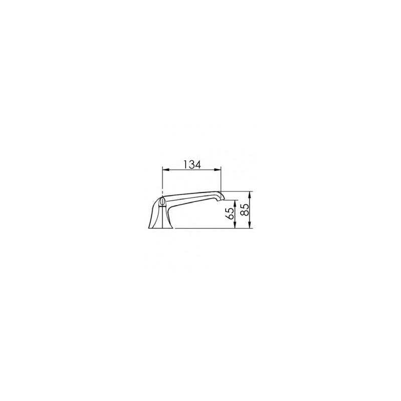Cifial Hexa Lever 3 Hole Basin Mixer Low Spout Chrome