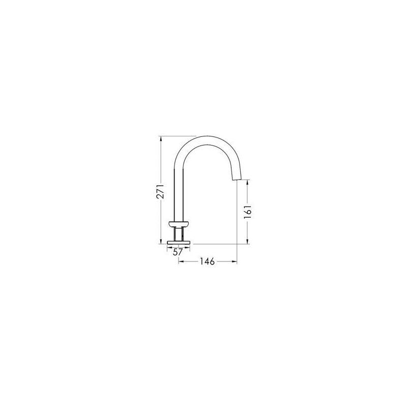 Cifial Texa 3 Hole Deck Basin Mixer