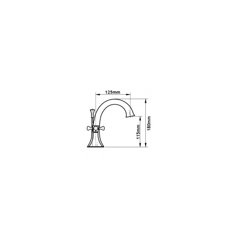 Cifial Brookhaven Cross 3 Hole Deck Basin Mixer Chrome