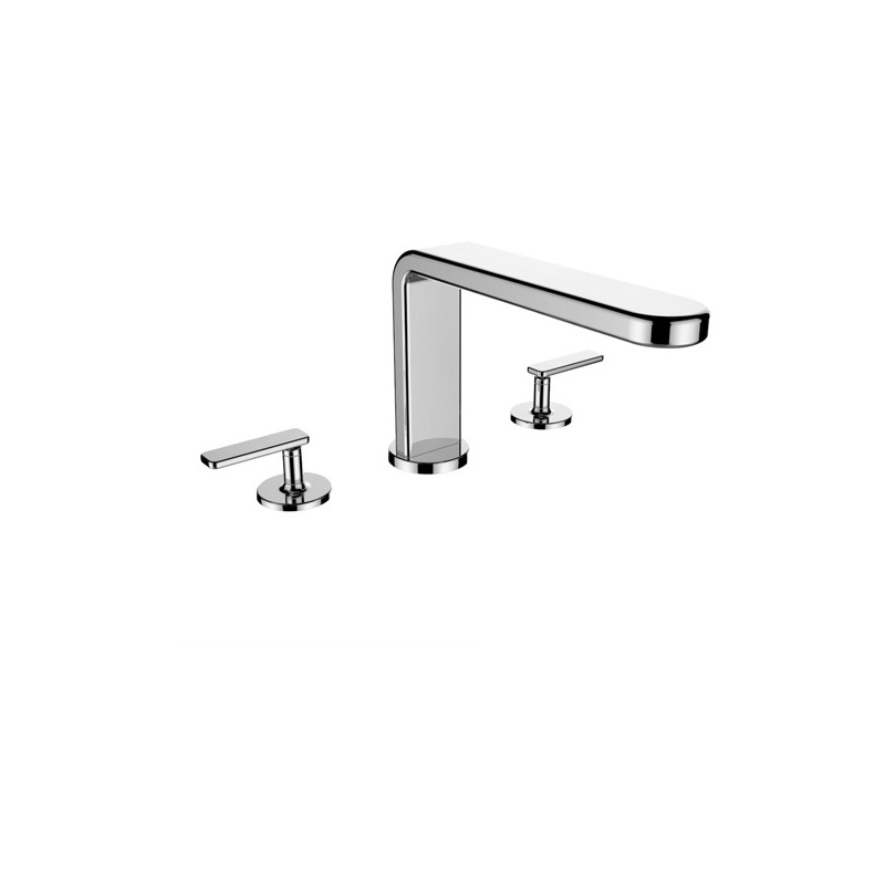 Cifial TH400 3 Hole Deck Bath Mixer (Lever) Chrome