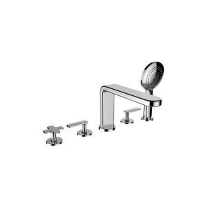 Cifial TH400 5 Hole Deck Bath Mixer Chrome