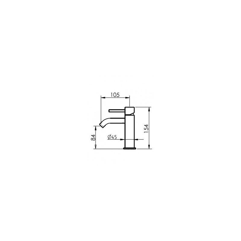 Cifial Mini Square Mono Basin Mixer Chrome