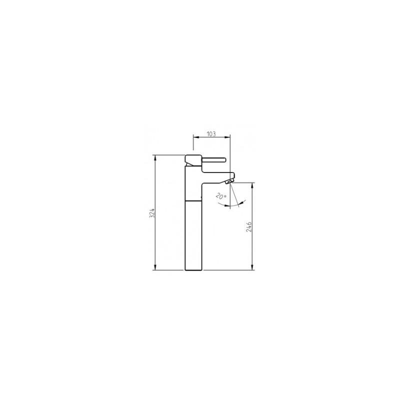 Cifial Technovation 35 Straight Extended Mono Basin Mixer Chrome