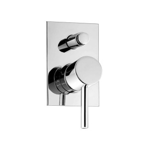 Cifial Mini Round Concealed Manual Bath/Shower Mixer Chrome