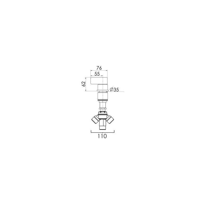 Cifial TH251 Deck Diverter Chrome