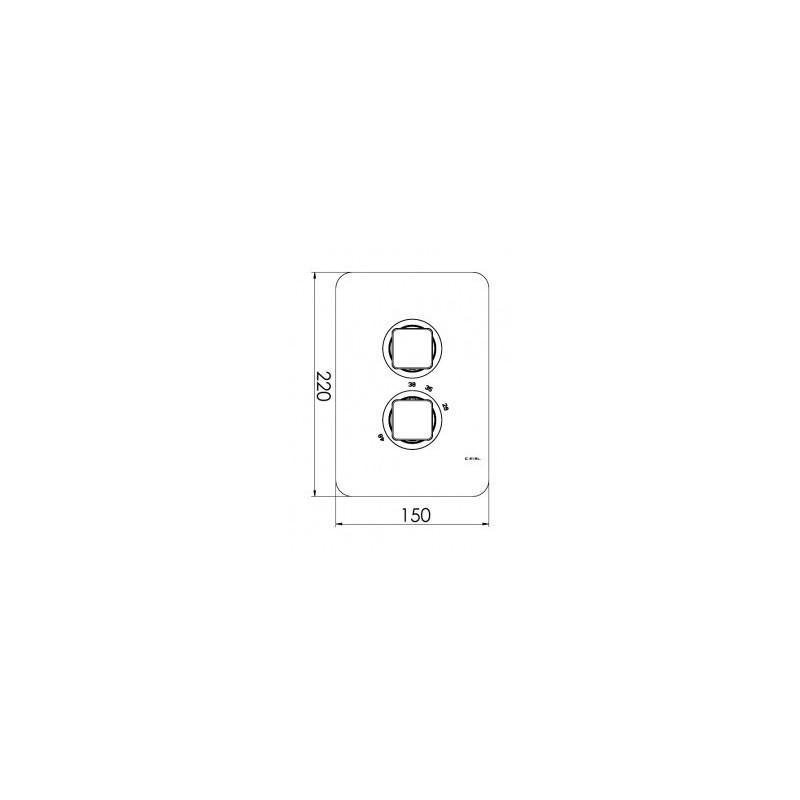 Cifial Cudo 2 Control Thermostatic Valve Chrome