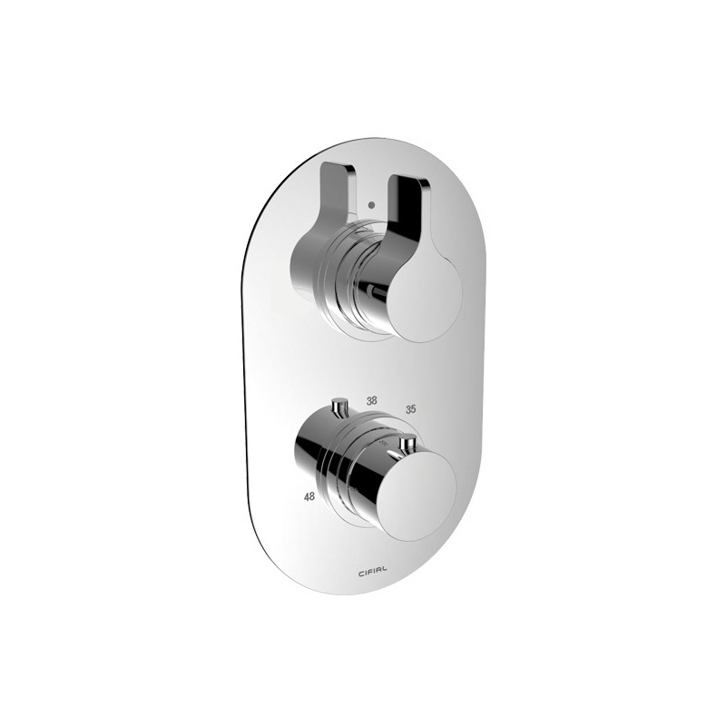 Cifial TH251 Thermostatic Valve 1 Outlet Chrome