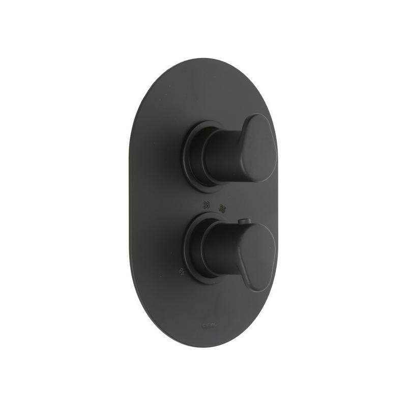 Cifial Black Thermostatic Valve, 1 Outlet