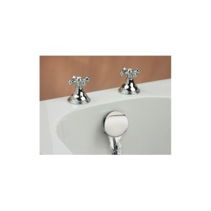 Cifial Edwardian Deck Bath Valves & Aqua Filler Chrome