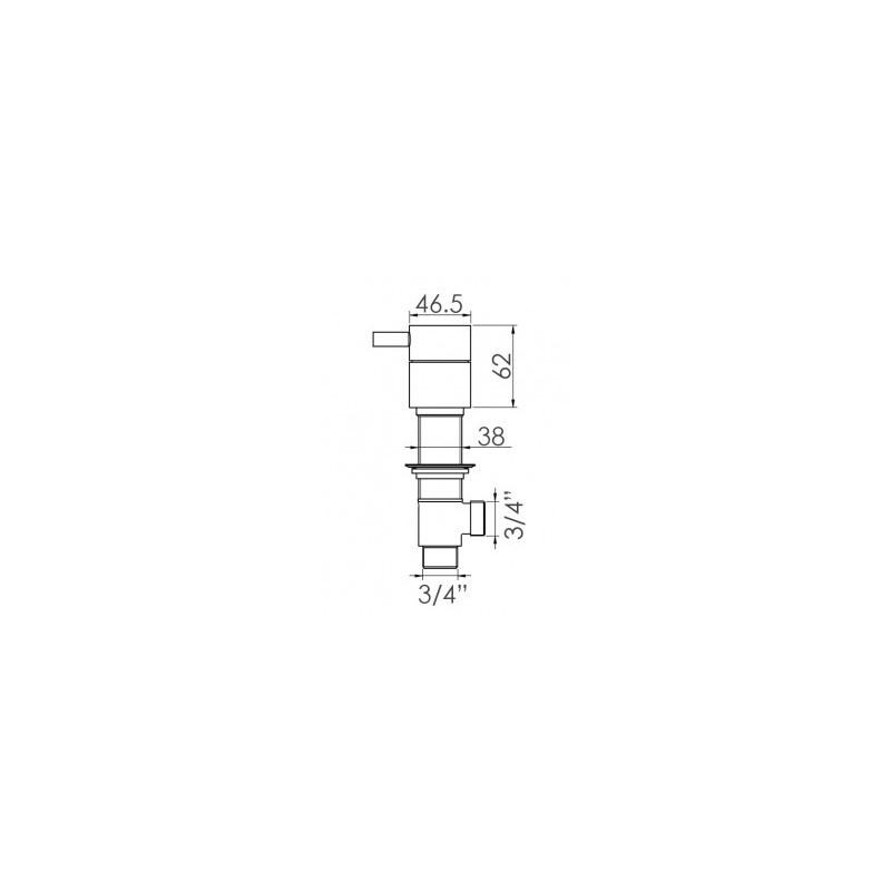 Cifial Technovation 465 Deck Valves & Aqua Filler Chrome