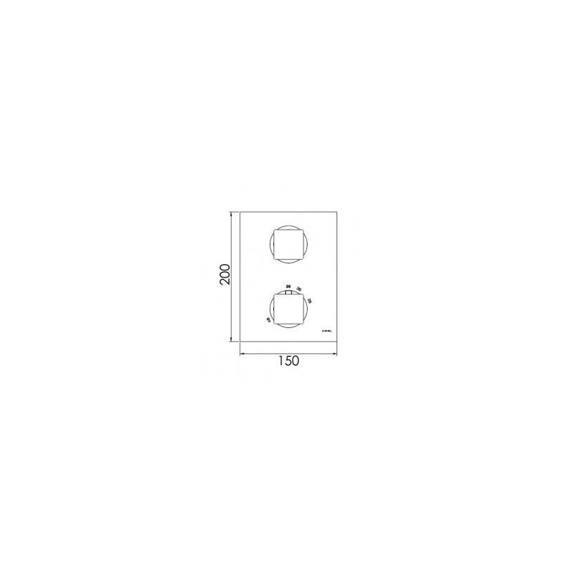 Cifial Quadrado Thermostatic Valve with Diverter Chrome