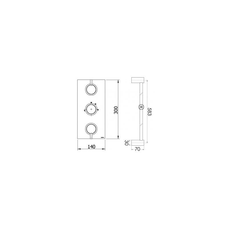 Cifial Technovation 465 Thermostatic Flexi/Bath Filler Kit
