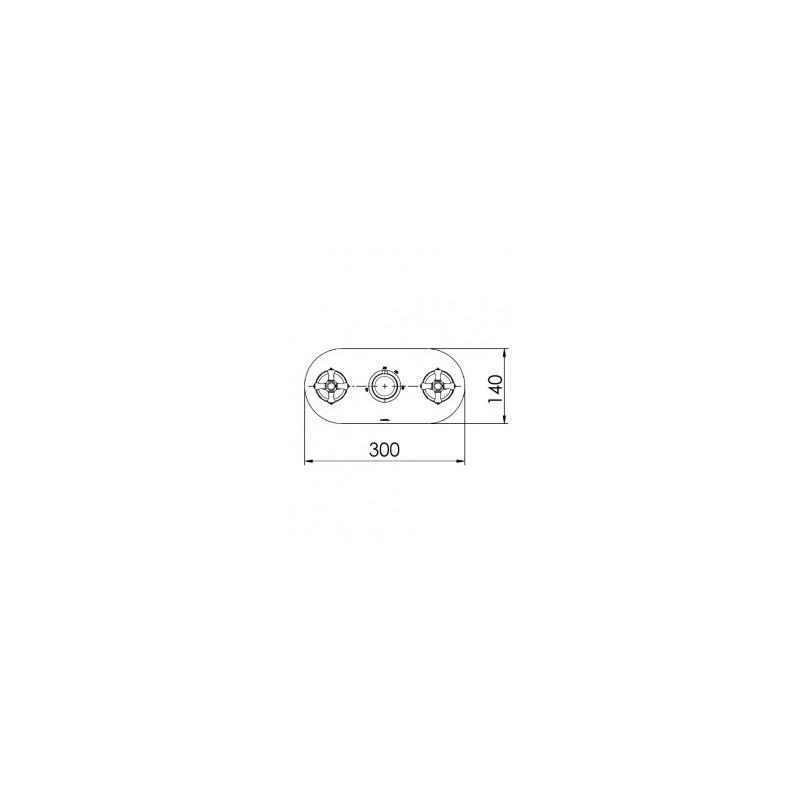 Cifial Edwardian 3 Control Landscape Valve with Diverter Chrome