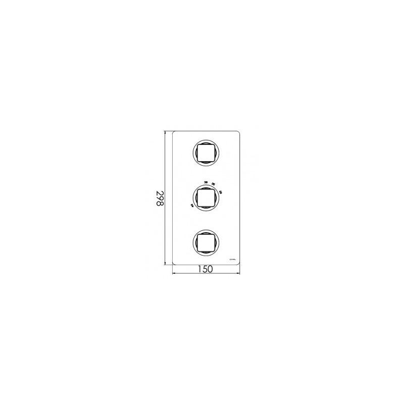 Cifial Cudo 3 Control Thermostatic Valve Chrome
