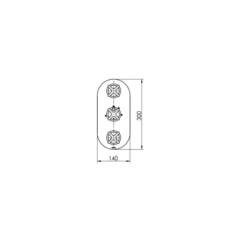 Cifial Hexa 3 Control Thermostatic Valve Chrome