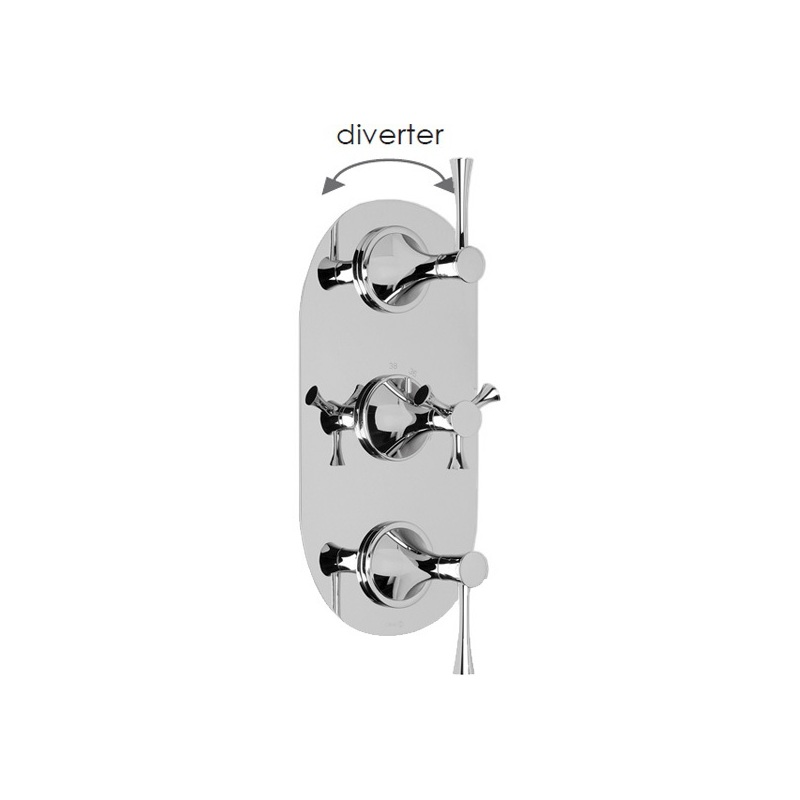 Cifial Brookhaven Lever 3 Control Valve with Diverter Chrome