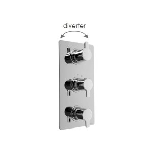 Cifial Coule 3 Control Thermostatic Valve with Diverter Chrome