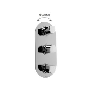Cifial Emmie 3 Control Thermostatic Valve with Diverter