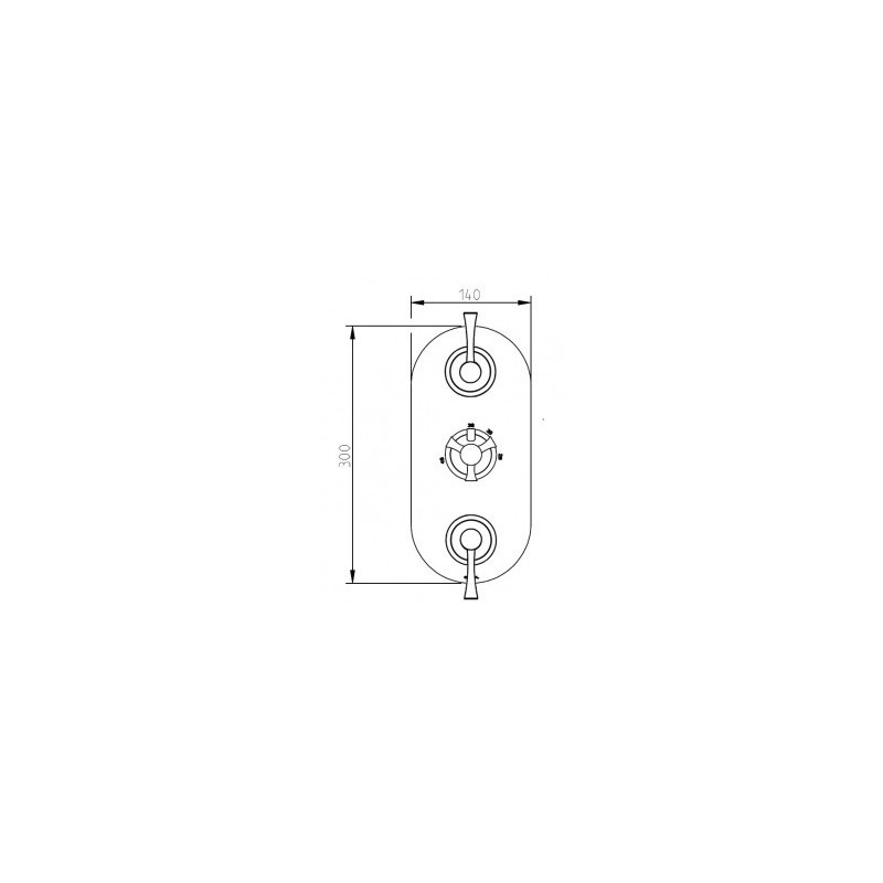 Cifial Brookhaven Lever 3 Control Valve with Double Diverter