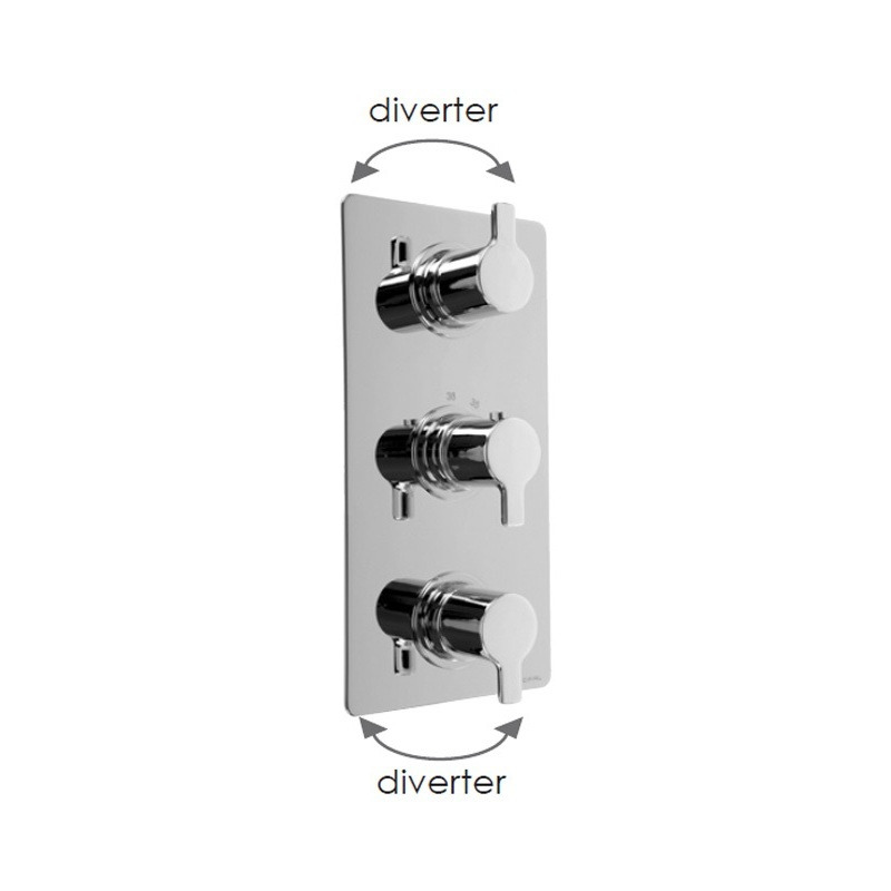 Cifial Coule 3 Control Thermostatic Valve with Double Diverter