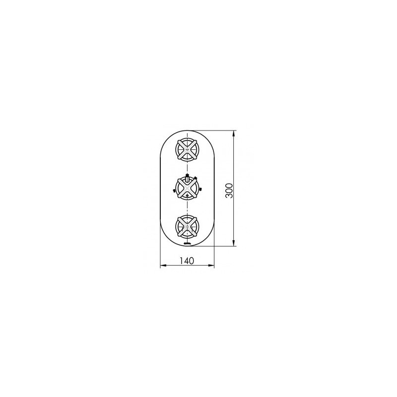 Cifial Hexa 3 Control Thermostatic Valve with Double Diverter