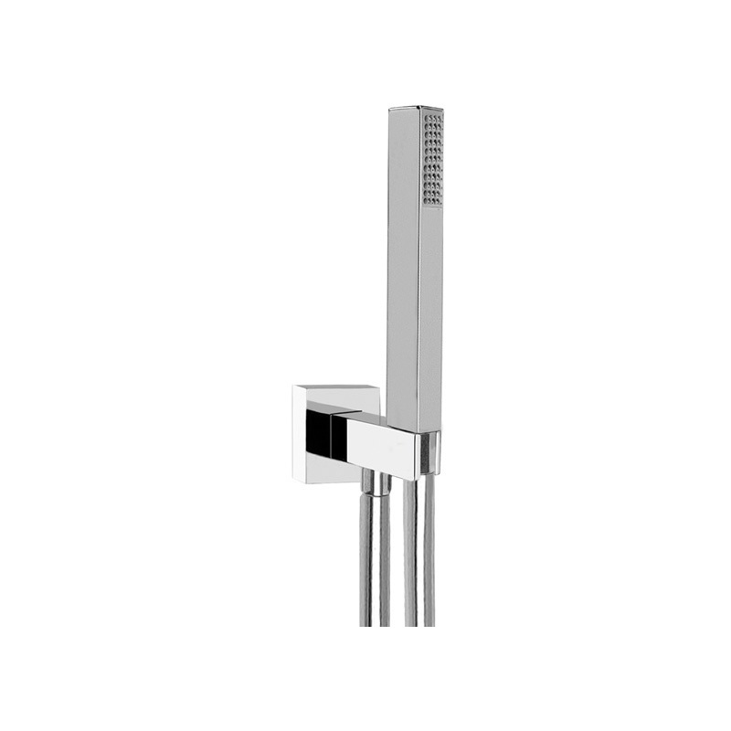Cifial Square Deluxe Flexi Wall Outlet Kit Chrome