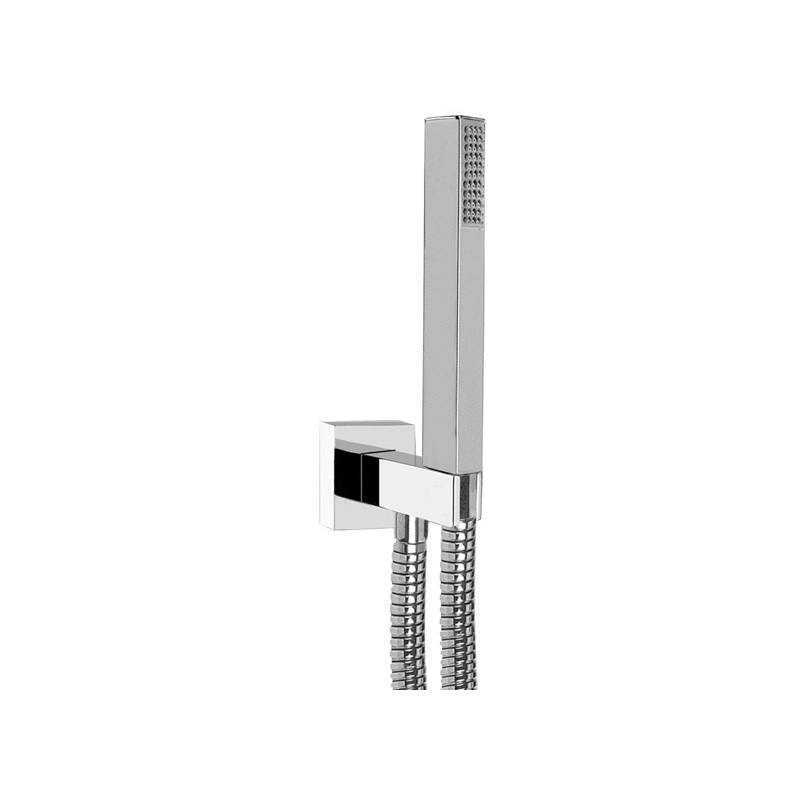 Cifial Square Standard Flexi Wall Outlet Kit Chrome