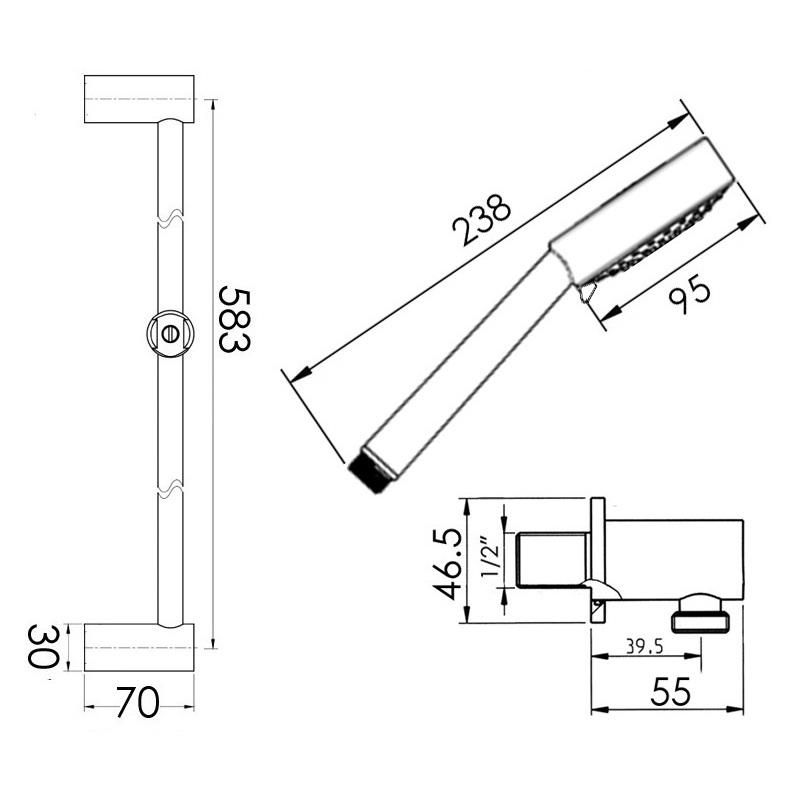 Cifial Tensor 95 Multi Deluxe Flexi Slider Bar Kit Chrome