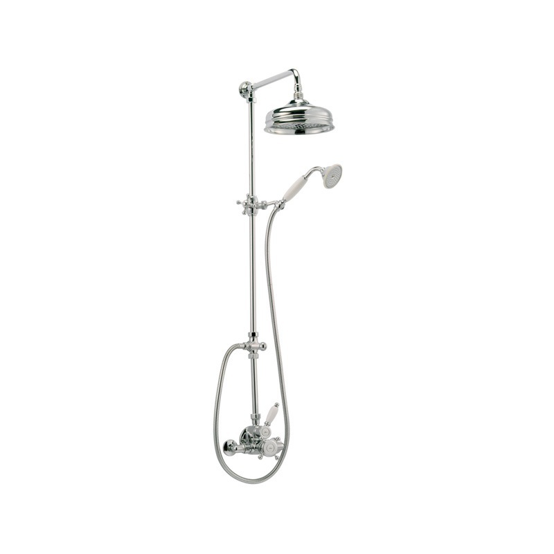 Cifial Traditional Thermostatic Shower Column Chrome