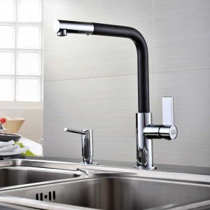 Clearwater Auriga Sink Mixer with Pull-Out Aerator Brushed/Black