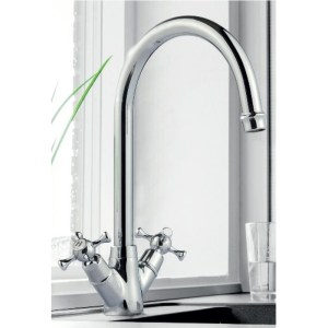 Clearwater Cottage Mono Sink Mixer with Swivel Spout Gold