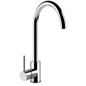 Clearwater Elara Compact Sink Mixer with Swivel Spout Brushed