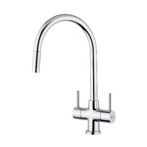 Clearwater Emporia Sink Mixer with Pull-Out Aerator Brushed