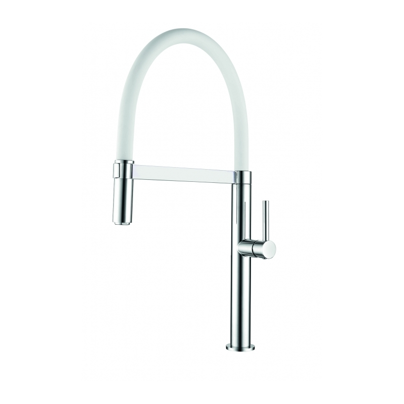 Clearwater Meridian Sink Mixer with Silicon Spout Chrome/White