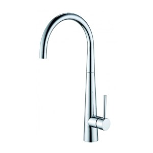 Clearwater Porrima Single Lever C Spout Mono Sink Mixer Brushed