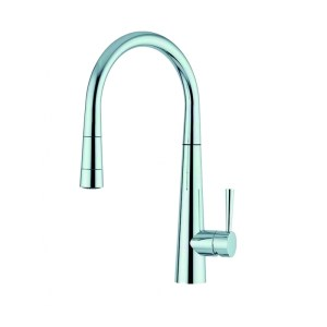 Clearwater Porrima Mono Sink Mixer with Pull-Out Chrome