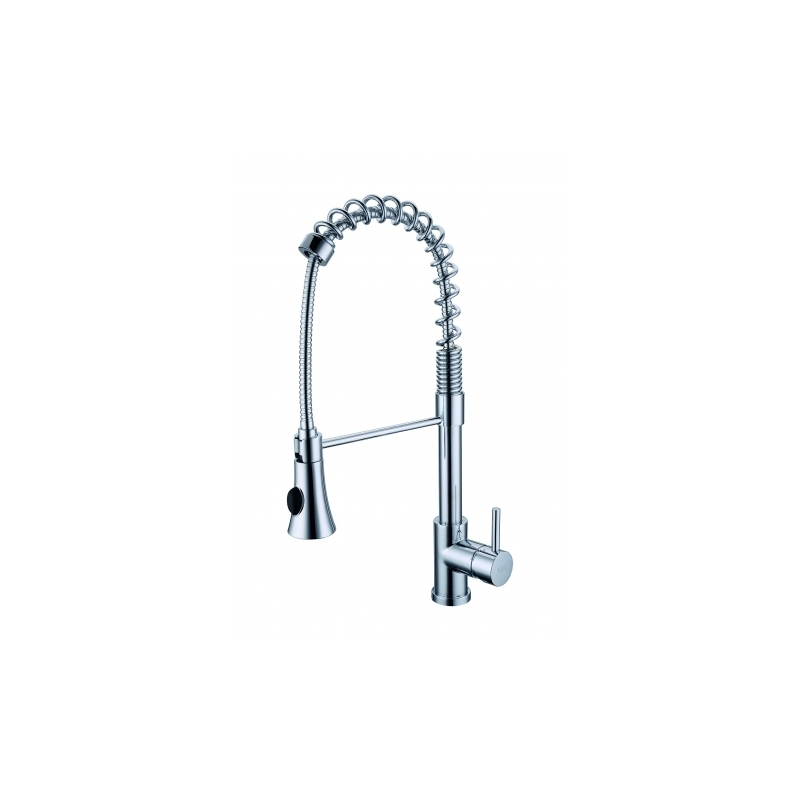 Clearwater Triton Mono Sink Mixer with Spring Spout Brushed