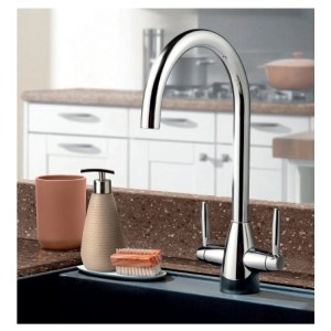 Clearwater Tutti Mono Sink Mixer with Swivel Spout Brushed