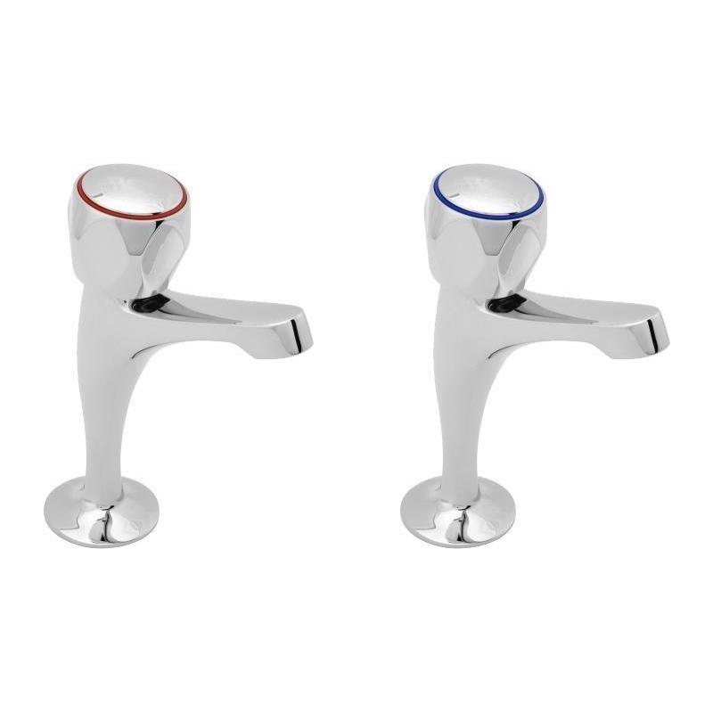Deva Profile Sink Taps with Metal Backnuts